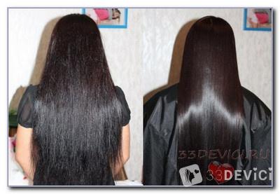 выпрямление волос кератином дома