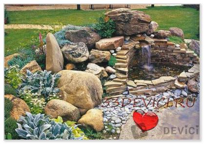 Ландшафтный дизайн с помощью камней