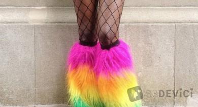 Необычная фотосессия женских ног
