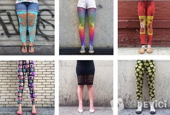 яркие образы женских ног
