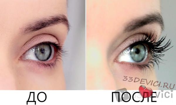 Фото до и после - касторовое масло