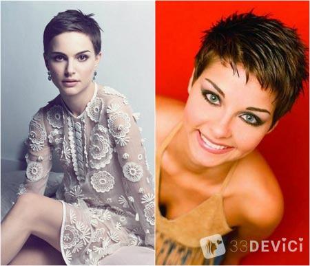 женские образы с короткими волосами