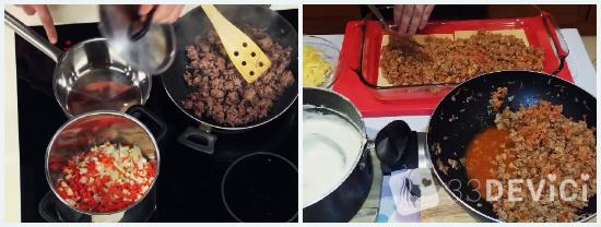 Процесс приготовления домашней лазаньи