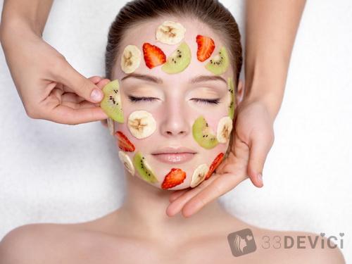 чистки лица фруктами