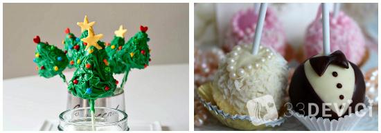 кейк попс в качестве праздничного угощения