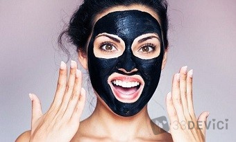 Черная маска для лица от прыщей Black Mask