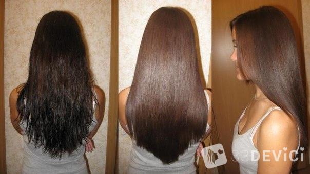 фото дои после бразильского кератинового выпрямления волос