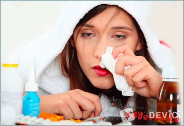 Насморк болит голова лоб нос