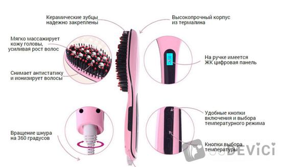 технические характеристики расчески-выпрямителя Hair Straightener