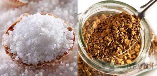 скраб из кофе и соли