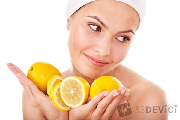 убрать веснушки лимоном