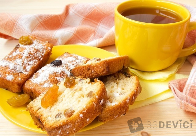 рецепт лимонного кекса с изюмом