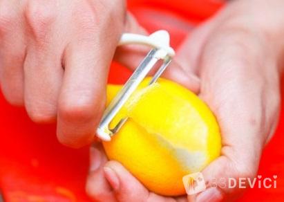 как снять лимонную цедру