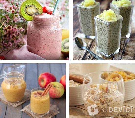 рецепты с семенами чиа для похудения