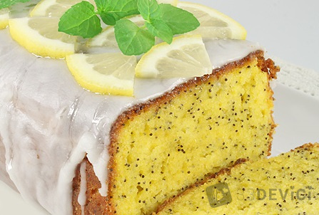 как приготовить лимонный кекс с маком дома