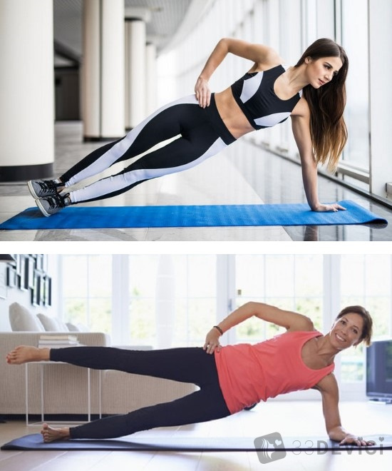 упражнения для боковой планки