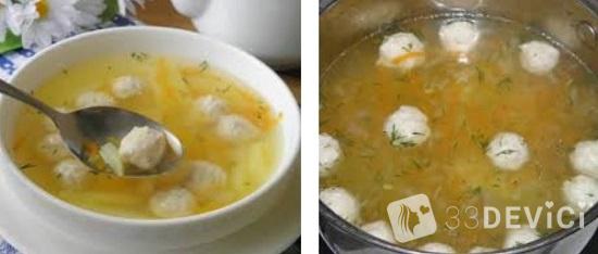 суп с фрикадельками для ребенка 1 год рецепт