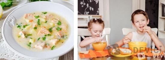 вермишелевый молочный суп для детей