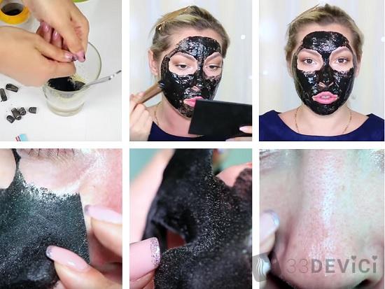 Маска от черных точек в домашних условиях Black Mask