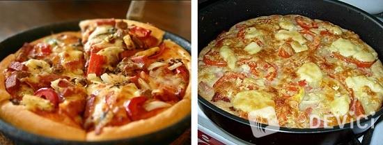 рецепт быстрая пицца на сковородке