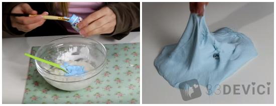 как сделать лизуна из шампуня и соли