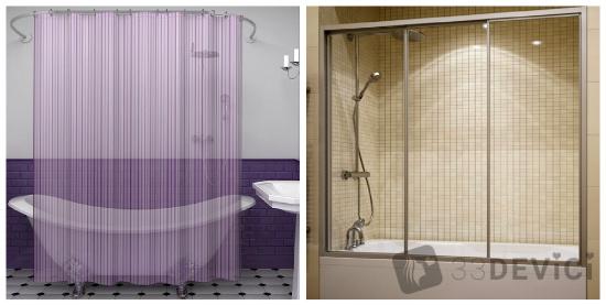 шторки для ванной стеклянные раздвижные своими руками