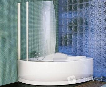 как сделать стеклянные шторки для ванной
