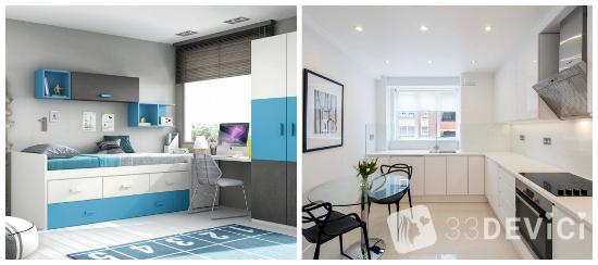 как визуально увеличить комнату с помощью цвета
