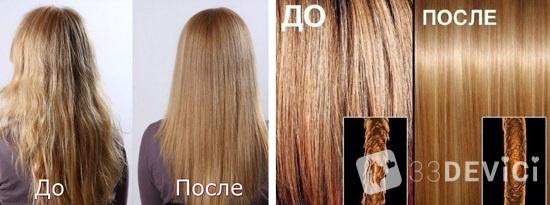 фото до и после ламинирования волос