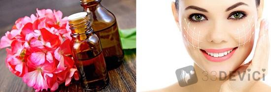упругая и красивая кожа с масками масла пеларгонии