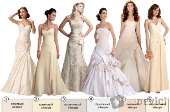 какого цвета должно быть свадебное платье приметы