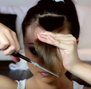 как подстричь косую челку самостоятельно