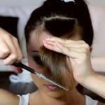 Как правильно подстричь челку