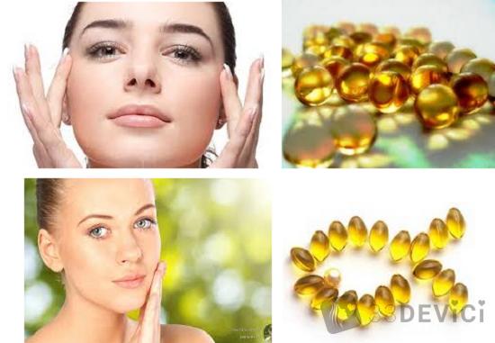 витамин е в капсулах применение для лица