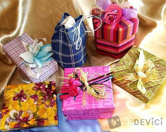 как сделать подарок на восьмое марта