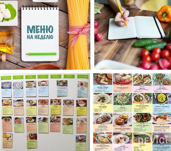 экономное меню на неделю для семьи