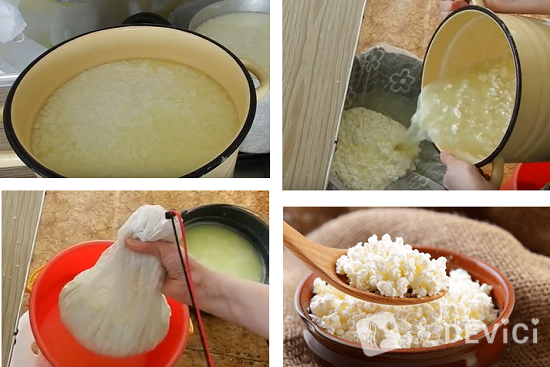как сделать творог из молока: пошаговый рецепт