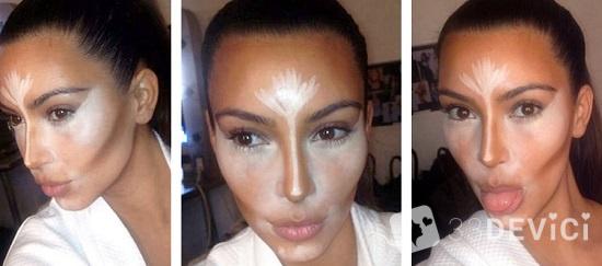 какследать макияж как у ким кардашьян