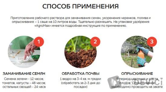 как применять удобрение agromax