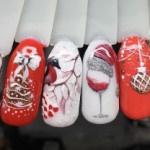 Новогодний дизайн ногтей 2020-2021