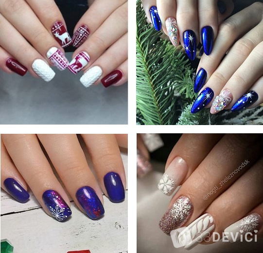 Новогодний ногтевой дизайн