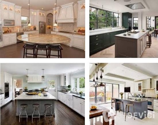 дизайна кухни в частном доме
