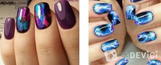 декор космос для ногтей