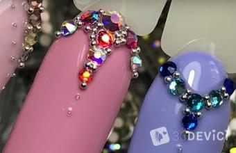 как правильно закрепить камни на ногтях