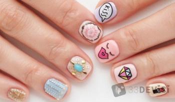 Стильные варианты дизайна на короткие ногти
