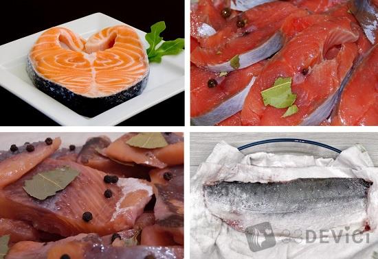 рецепты соления красной рыбки