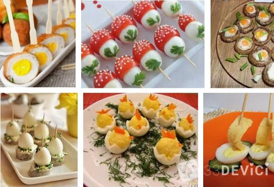 яички перепелок в разных блюдах