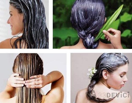 масляные маски для ухода за волосами