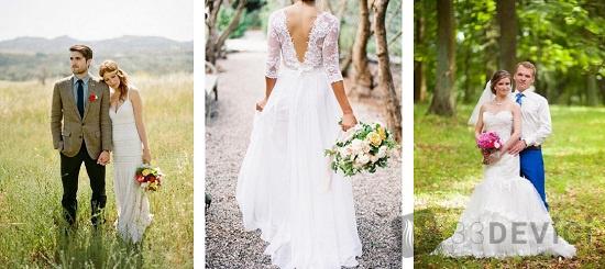 свадебное платье для природы