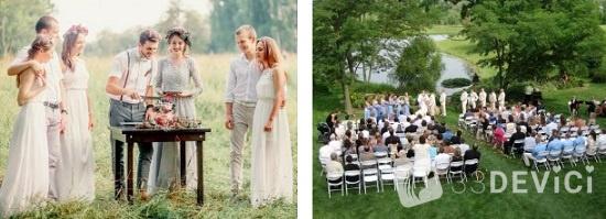 Свадьбы на природе: преимущества и особенности